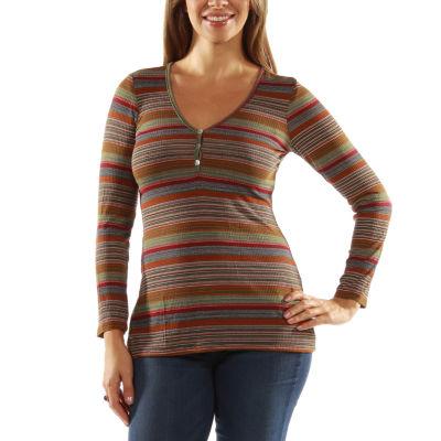 24/7 Comfort Apparel Mvp Striped Tunic Top