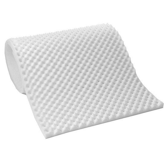 Lightweight Textured Eggcrate Foam 1/2 Mattress Topper Pad All Sizes