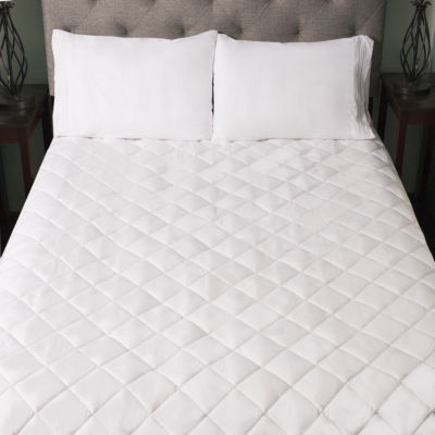Snuggle Home Quilted Fitted Memory Foam Bedroom Mattress Pad - 4 Sizes