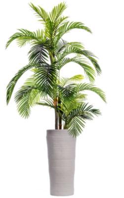 "Laura Ashley 105"" Tall Palm Tree In Fiberstone Oval Planter"