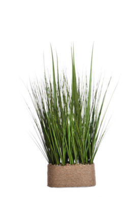 """Laura Ashley 28"""" Tall Onion Grass In Hemp Rope Container"""