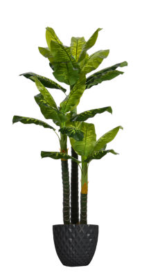 78 Inch Tall Real Touch Evergreen In Faceted Planter