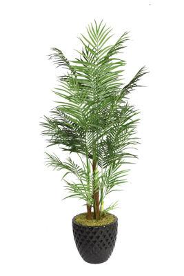 Laura Ashley 82 Inch Tall Areca Palm Tree In 16 Inch Fiberstone Planter