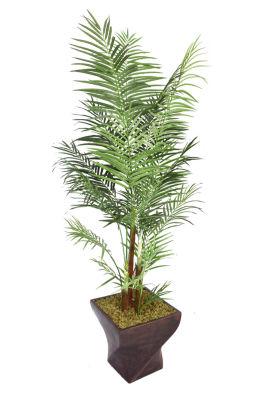 Laura Ashley 86 Inch Tall Areca Palm Tree In 17 Inch Fiberstone Planter