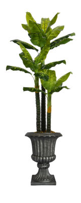 Laura Ashley 86 Inch Tall Real Touch Evergreen In Urn Planter