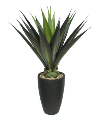 44 Inch Tall Agave In Fiberstone Planter Indoor-Outdoor