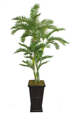 Laura Ashley 91 Inch Tall Palm Tree In 16 Inch Fiberstone Planter