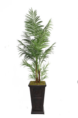 Laura Ashley 95 Inch Tall Areca Palm Tree In 16 Inch Fiberstone Planter