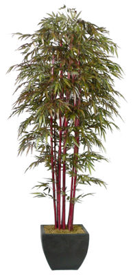 96 Inch Tall Bamboo Tree With Decorative Planter