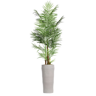 97 Inch Tall Areca Palm Tree In Modern Planter