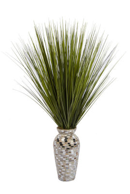 Laura Ashley Onion Grass In Mosaic Vase