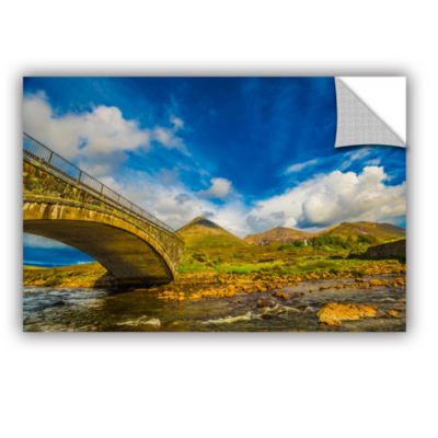 Brushstone Bridge Over River Sligachan Removable Wall Decal