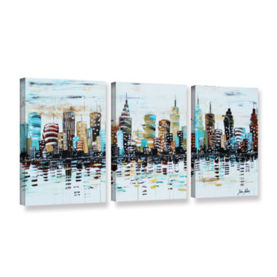 Brushstone Candyland 3-pc. Gallery Wrapped CanvasWall Art