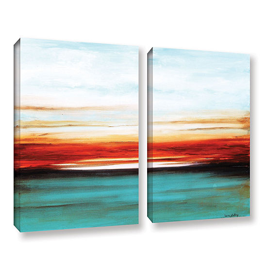 Brushstone Sunset 2-pc. Gallery Wrapped Canvas Wall Art