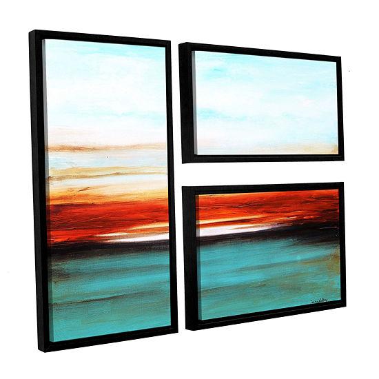 Sunset 3-pc. Flag Floater Framed Canvas Wall Art