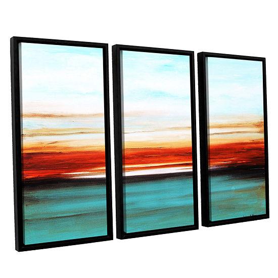 Brushstone Sunset 3-pc. Floater Framed Canvas WallArt