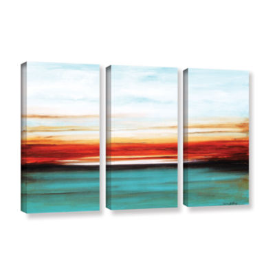 Sunset 3-pc. Gallery Wrapped Canvas Wall Art