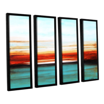 Brushstone Sunset 4-pc. Floater Framed Canvas WallArt