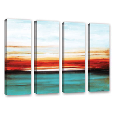 Brushstone Sunset 4-pc. Gallery Wrapped Canvas Wall Art