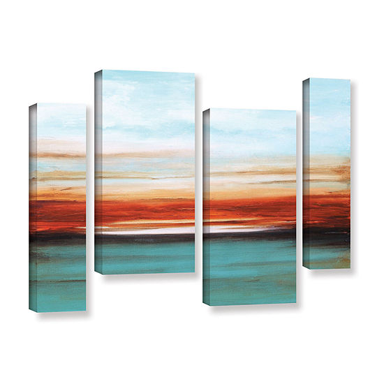 Brushstone Sunset 4 Pc Gallery Wrapped Staggeredcanvas Wall Art