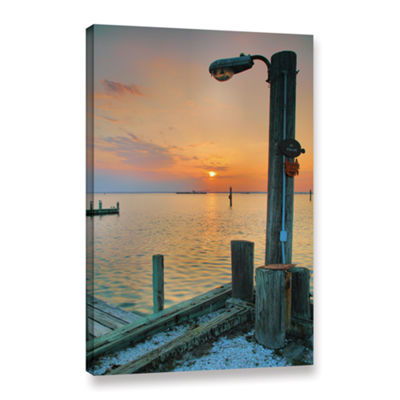 Brushstone Sunset Bay II Gallery Wrapped Canvas Wall Art