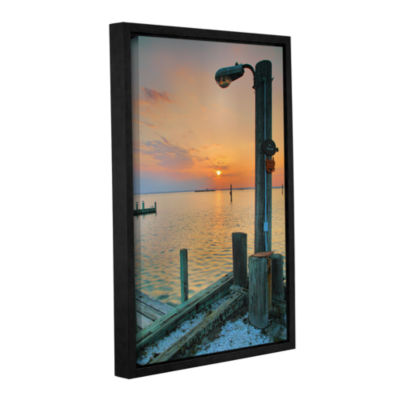 Brushstone Sunset Bay II Gallery Wrapped Floater-Framed Canvas Wall Art