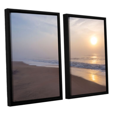 Brushstone Through The Fog II 2-pc. Floater FramedCanvas Wall Art
