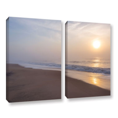 Brushstone Through The Fog II 2-pc. Gallery Wrapped Canvas Wall Art