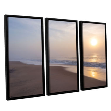 Brushstone Through The Fog II 3-pc. Floater FramedCanvas Wall Art
