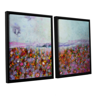 Brushstone Rainbow Poppies 2-pc. Floater Framed Canvas Wall Art