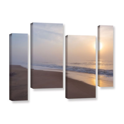 Brushstone Through The Fog II 4-pc. Gallery Wrapped Staggered Canvas Wall Art
