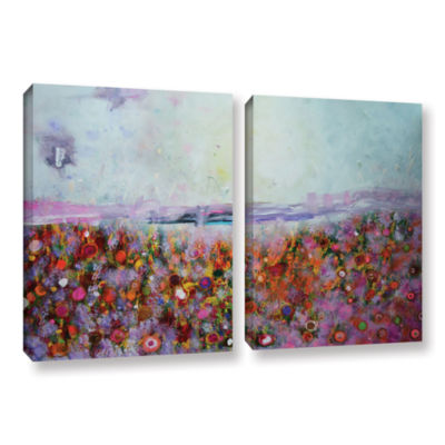 Brushstone Rainbow Poppies 2-pc. Gallery Wrapped Canvas Wall Art