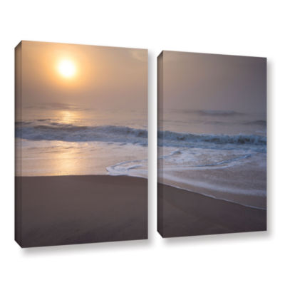 Brushstone Through The Fog III 2-pc. Gallery Wrapped Canvas Wall Art