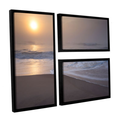 Brushstone Through The Fog III 3-pc. Flag FloaterFramed Canvas Wall Art