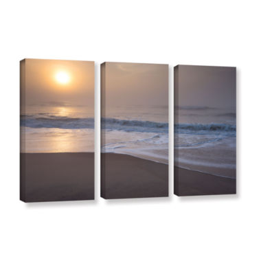 Brushstone Through The Fog III 3-pc. Gallery Wrapped Canvas Wall Art