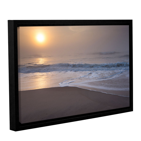 Brushstone Through The Fog III Gallery Wrapped Floater-Framed Canvas Wall Art