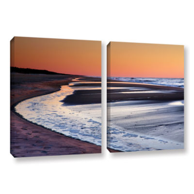 Brushstone Tide Pools at Sunrise 2-pc. Gallery Wrapped Canvas Wall Art