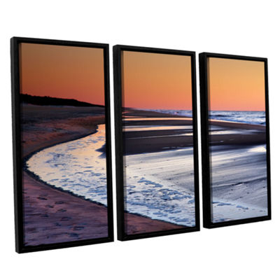 Tide Pools at Sunrise 3-pc. Floater Framed Canvas Wall Art