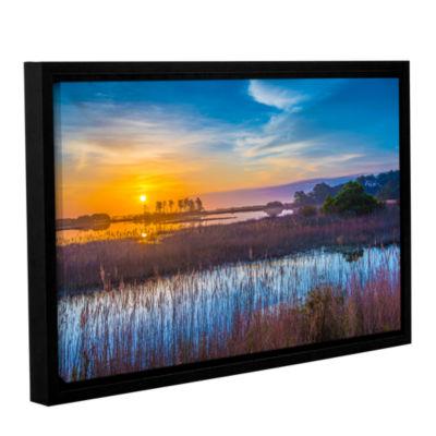 Brushstone Salt Marsh Sunrise Gallery Wrapped Floater-Framed Canvas Wall Art
