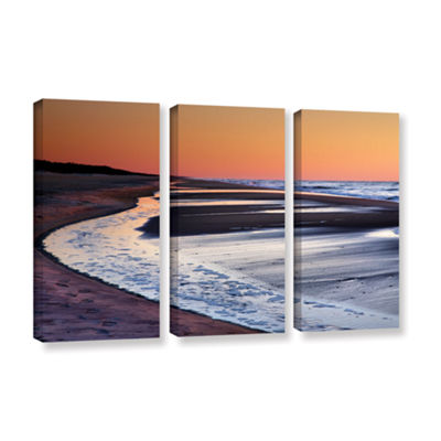 Brushstone Tide Pools at Sunrise 3-pc. Gallery Wrapped Canvas Wall Art