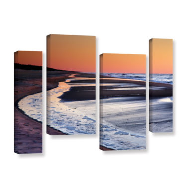 Brushstone Tide Pools at Sunrise 4-pc. Gallery Wrapped Staggered Canvas Wall Art