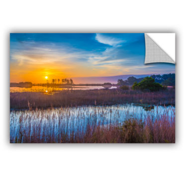 Brushstone Salt Marsh Sunrise Removable Wall Decal