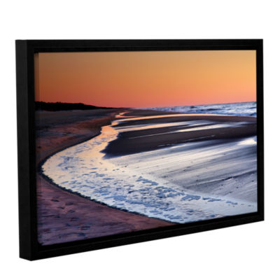 Brushstone Tide Pools at Sunrise Gallery Wrapped Floater-Framed Canvas Wall Art