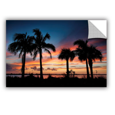 Brushstone Tropical Sunset II Removable Wall Decal