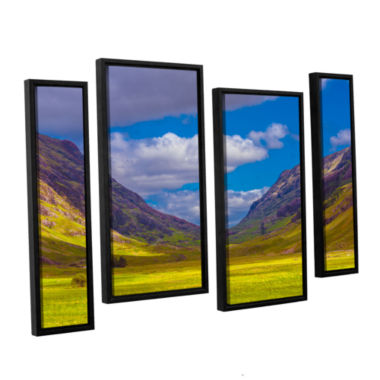 Brushstone Shadow Play 4-pc. Floater Framed Staggered Canvas Wall Art