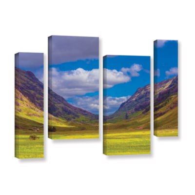 Brushstone Shadow Play 4-pc. Gallery Wrapped Staggered Canvas Wall Art
