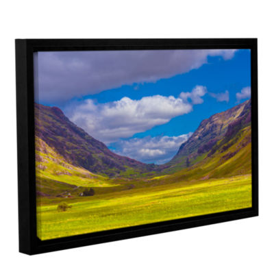 Brushstone Shadow Play Gallery Wrapped Floater-Framed Canvas Wall Art