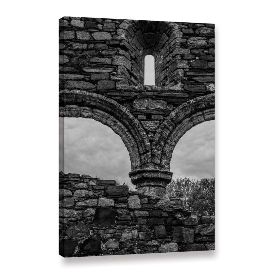 Brushstone Windows In Stone Gallery Wrapped CanvasWall Art