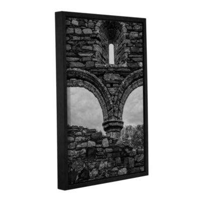 Brushstone Windows In Stone Gallery Wrapped Floater-Framed Canvas Wall Art