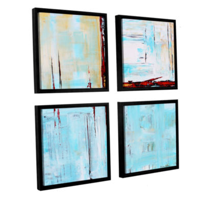 Brushstone Winterpane 4-pc. Floater Framed CanvasSquare
